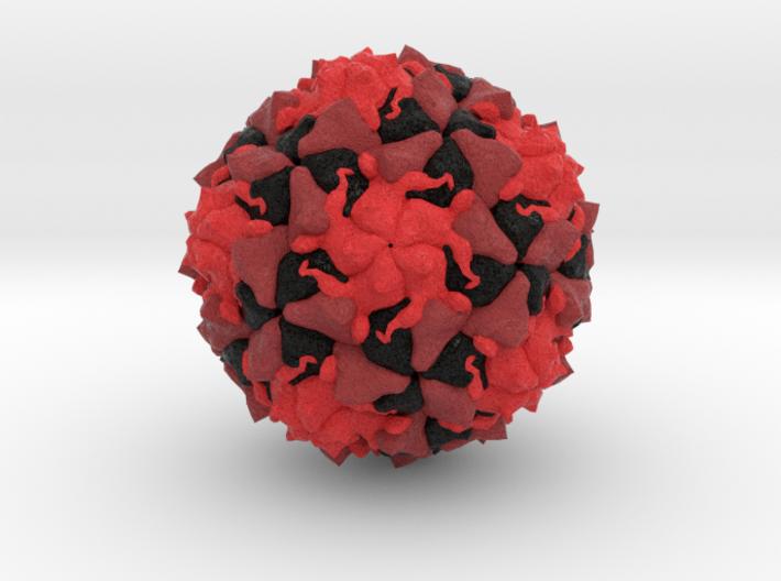 Polio Virus 3d printed