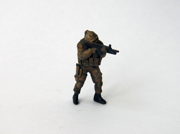 2 HO Modern Soldier (no base) 3d printed HO Soldier painted