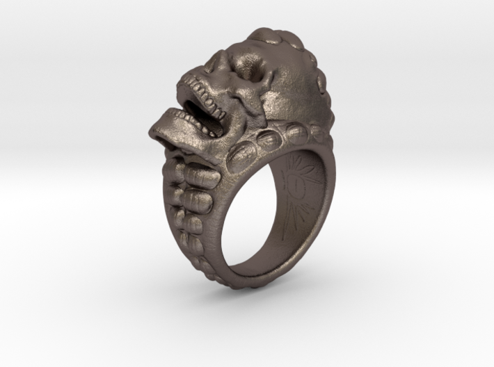 skull ring size 10.5 3d printed