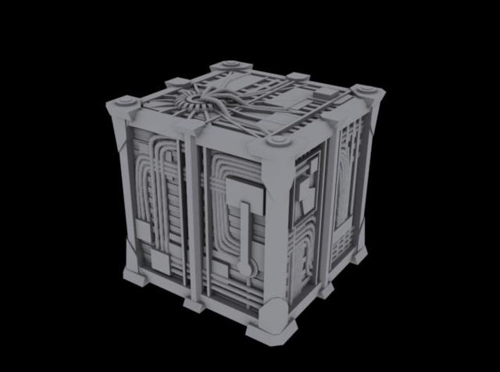 Cyborg Scout Cube V2 1/2500 Scale 3d printed