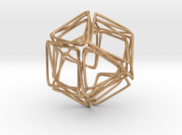 Looped Twisted Cuboctahedron 3d printed