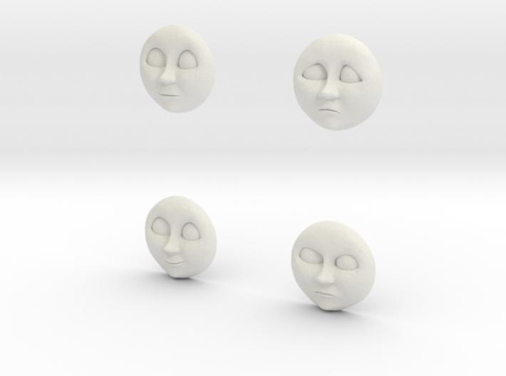 Character No 2 - Faces [H0/00] 3d printed