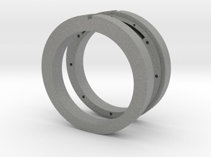 NFC ready cross ring 3d printed