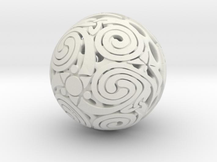 Triskelion sphere 3d printed