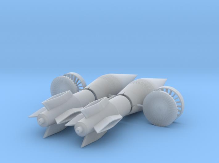 SR-71 Blackbird Engine Spike, 1/72 3d printed