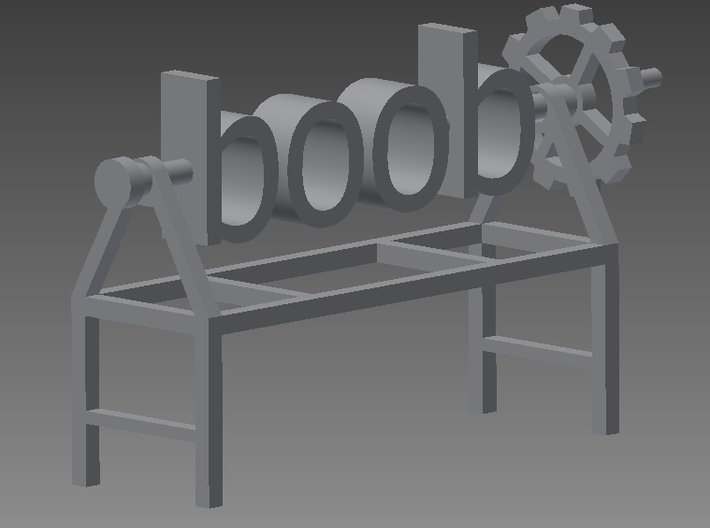 boob poop! 3d printed This is the redesign with the small optimisations that were made.