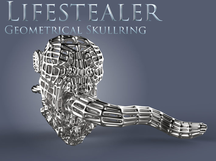 Dota2 Lifestealer Steel Skullring 3d printed Presentation Render