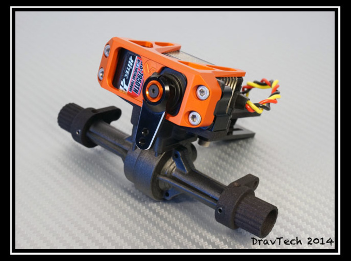 Servo and 4-link mount for the Losi Mini Rock Craw 3d printed
