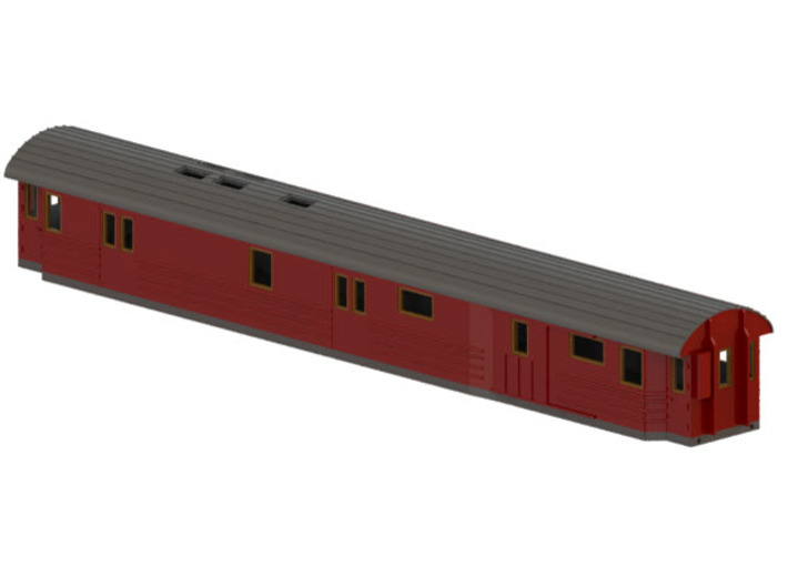 DFo18 - Swedish passenger wagon 3d printed CAD-model