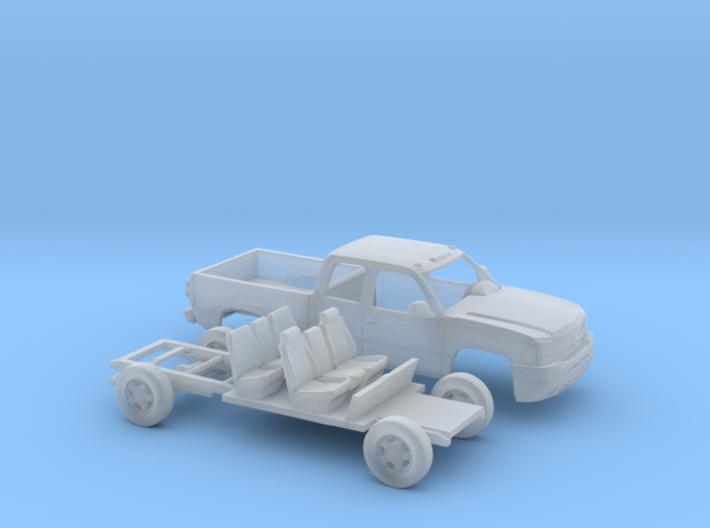 1/87 2003-06 Chevy Silverado1500 ExtCab Reg.BedKit 3d printed