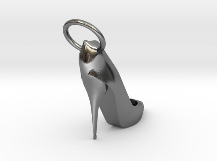 Right Foot Heel Earring 3d printed