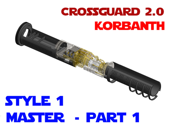 Korbanth Crossguard 2.0 - Master Part1 Style1 3d printed
