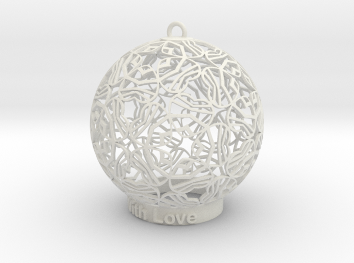 With Love Ornament 3d printed