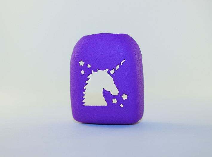 Unicorn - Omnipod Pod Cover 3d printed