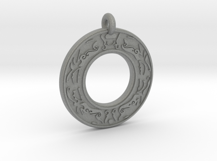 Celtic Stag Annulus Donut Pendant 3d printed