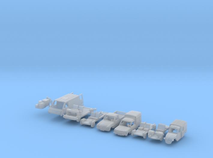 BONUS SET Commercial vehicles (N 1:160) 3d printed