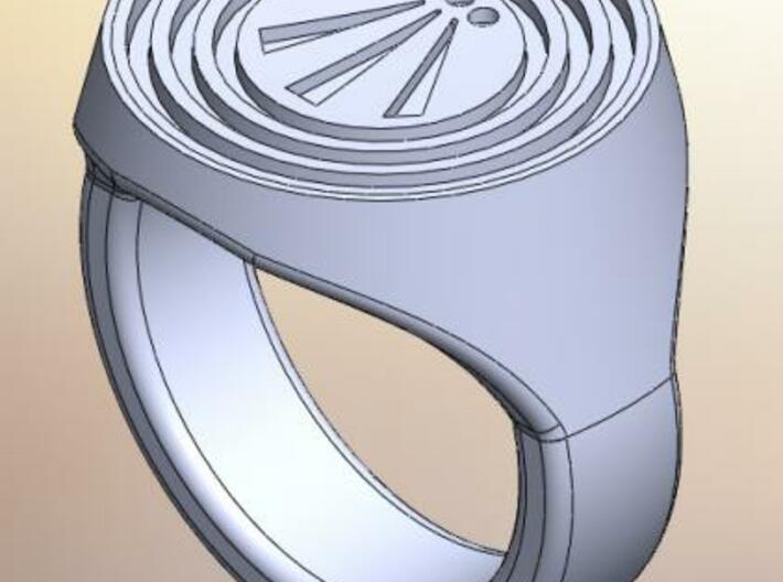 Awen Signet Ring 3d printed