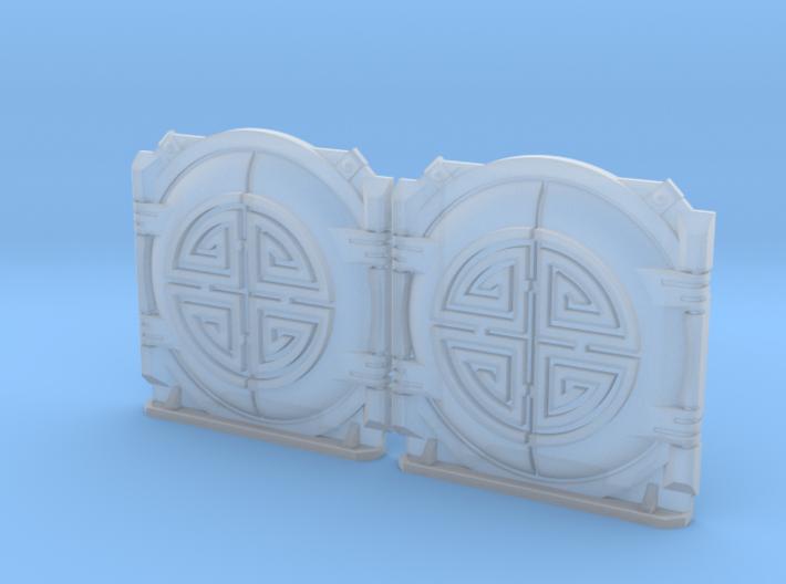 Prosperous Sun: M1b Troop Tank Round Doors 3d printed