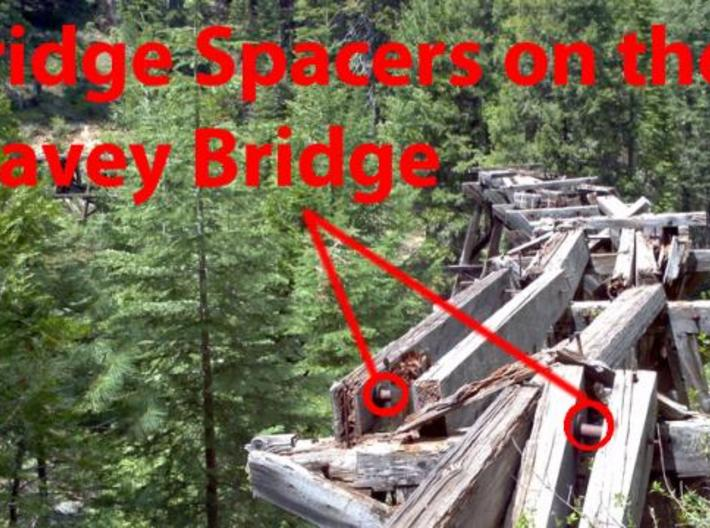 WSLCo River Bridge spacer in 1:48 O scale 3d printed