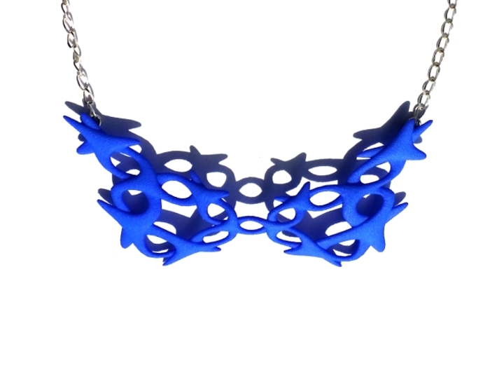 Conectate Necklace 3d printed Royal Blue Strong &  Flexible