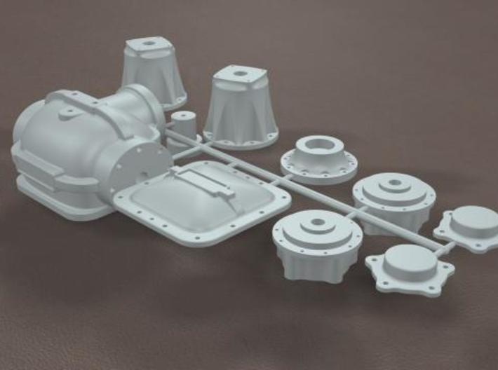 1/16 Toploader Rearend Housing 3d printed