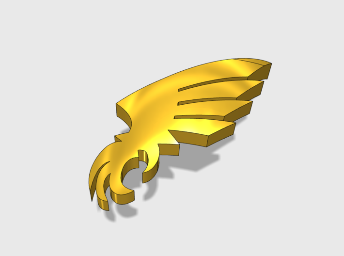 60x Winged Claw : Shoulder Insignia pack 3d printed