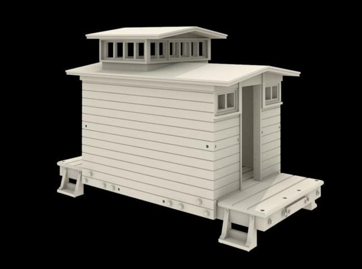 N Scale West Side Caboose #4 3d printed