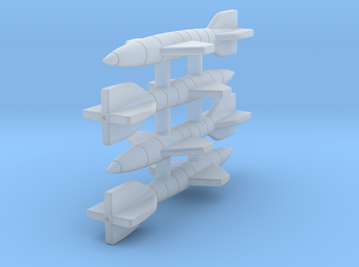(1:144) (x4) Hecht Gliding Bomb 3d printed
