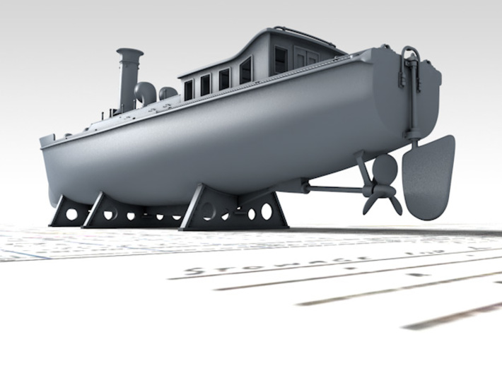 1/200 Royal Navy 50ft Steam Pinnace x1 3d printed 3D render showing product detail