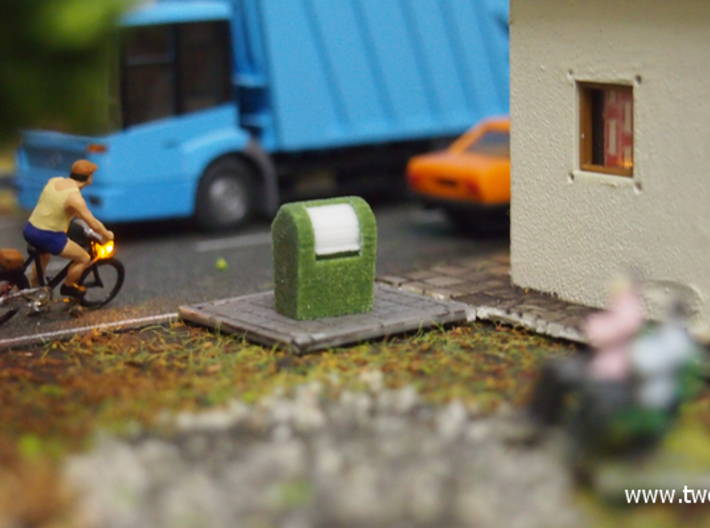 [4st] Ondergrondse Container 1:87 (H0) 3d printed H0