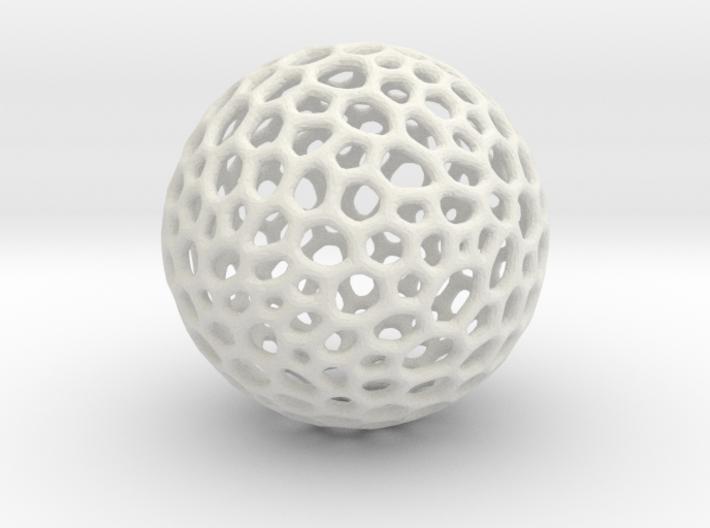 D20 lattice sphere 3d printed