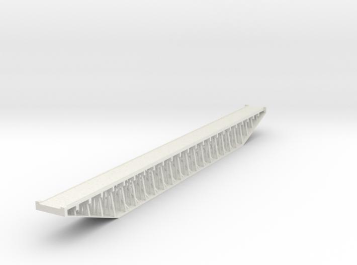 Trestle N (1:160) Six Piles Bridge With Deck Rigid 3d printed