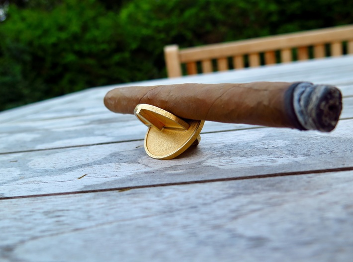 Buttcoin Cigar Stand (one half) 3d printed
