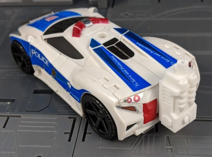 TF CW Streetwise Wide Car Cannon Adapter 3d printed Mounted onto the back of Streetwise