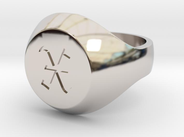 """Initial Ring """"X"""" 3d printed"""