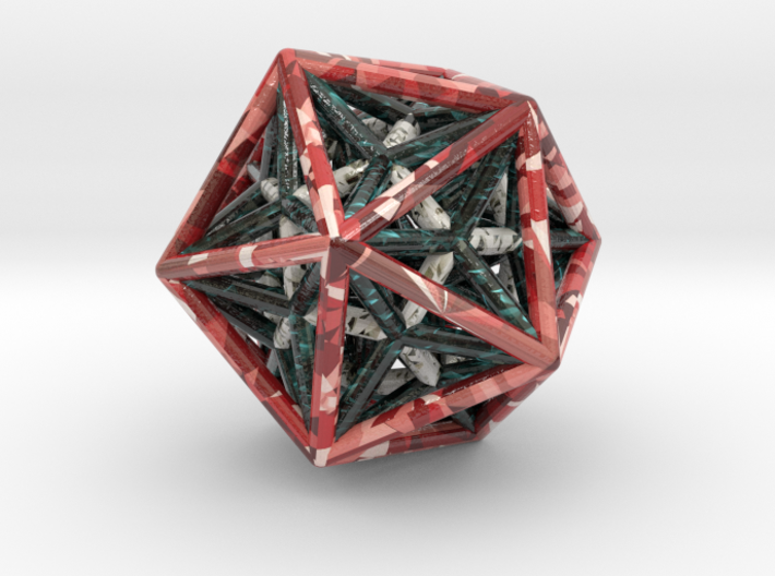 Icosahedron & Dodecahedron Struts Connected 3d printed