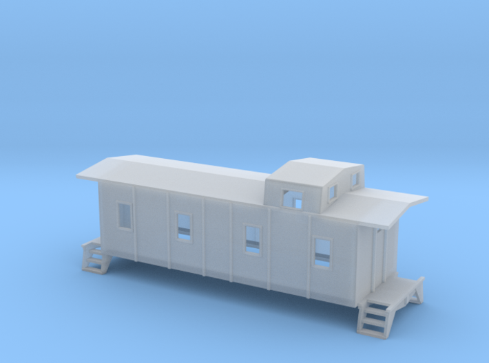 Illinois Central Caboose - HOscale 3d printed