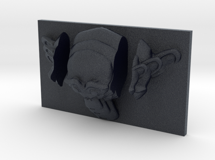Monkey Suzanne Triptych-Faced Caricature (001) 3d printed