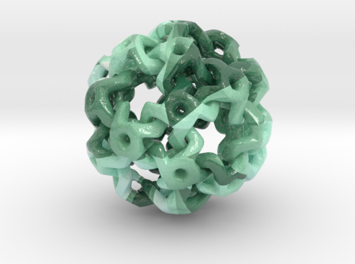 Nested Rhombic Triacontahedron 3d printed
