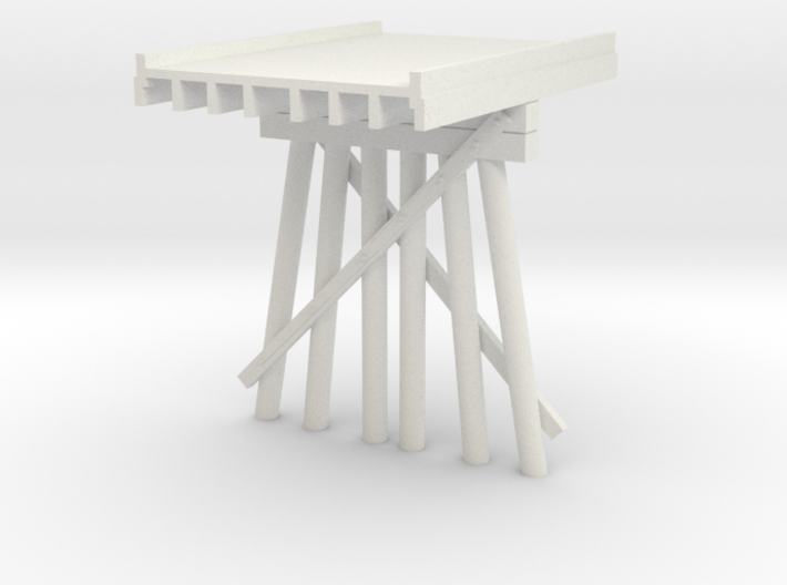 Part B Deck Trestle N (1:160) Modular Six Piles 3d printed