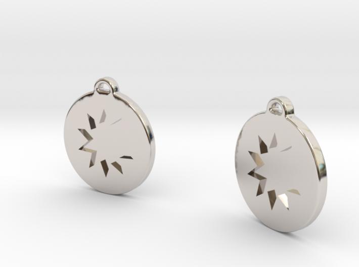 P O W E R Drop Earrings 3d printed