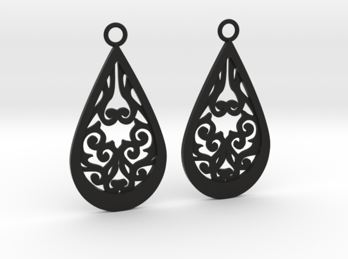 Persephone earrings 3d printed