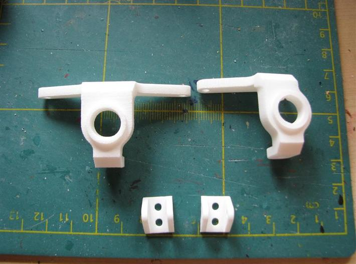 Axial SCX Max-Steering Conversion Kit with 2 shock 3d printed