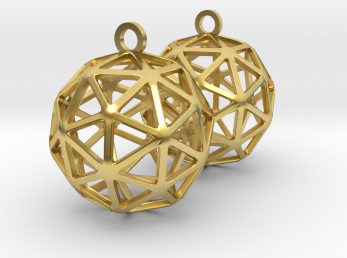 Pentakis Dodecahedron Earrings 3d printed