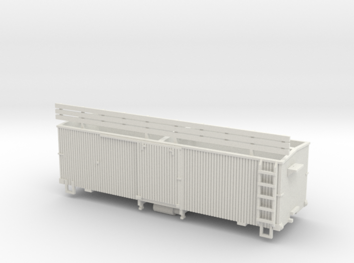 HOn3 25 foot Boxcar [without roof] 3d printed
