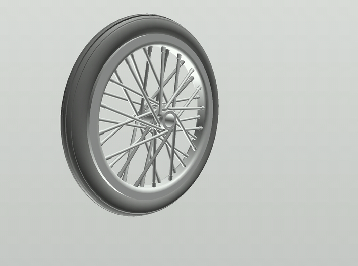 Drag wheel and tire 3d printed Fusion 360 rendering
