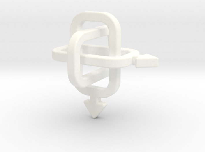 male/male Borromean rings 3d printed