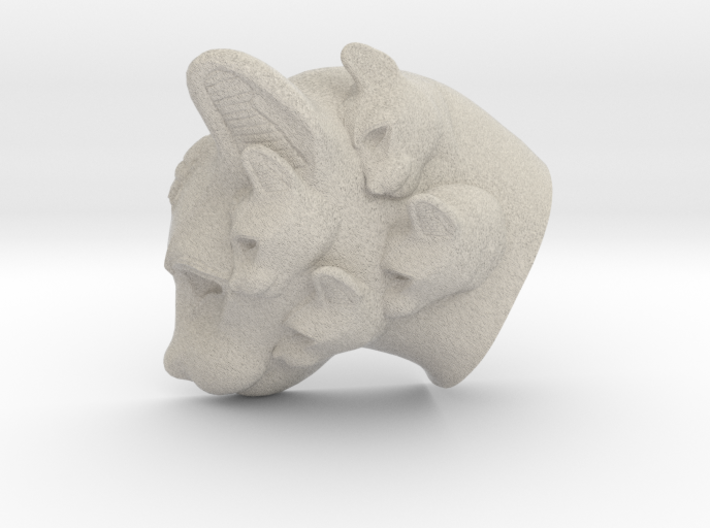 Cat Multi-Faced Caricature (006) 3d printed
