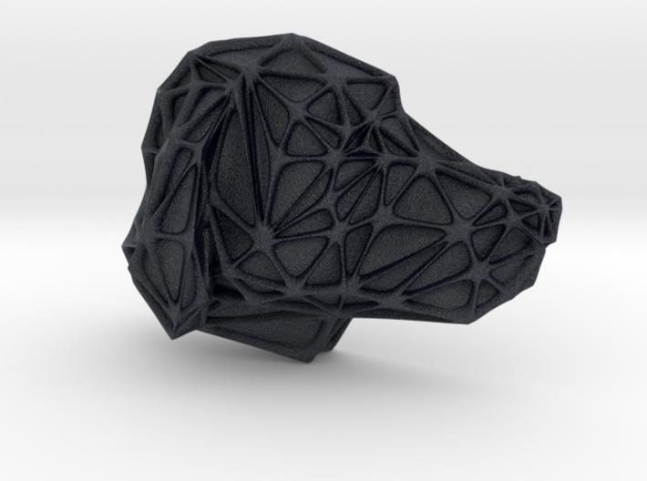Dog Face + Voronoi Mask (002) 3d printed