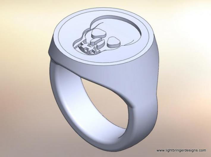 Skull Signet Ring 3d printed